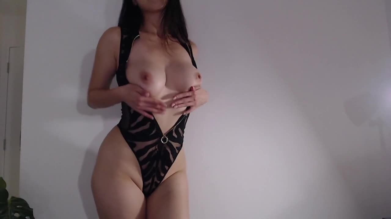 Big Tits Busty Asian Girl Strips ~ Cosplay Bodysuit Strip Show ~ Chinese Korean Camgirl