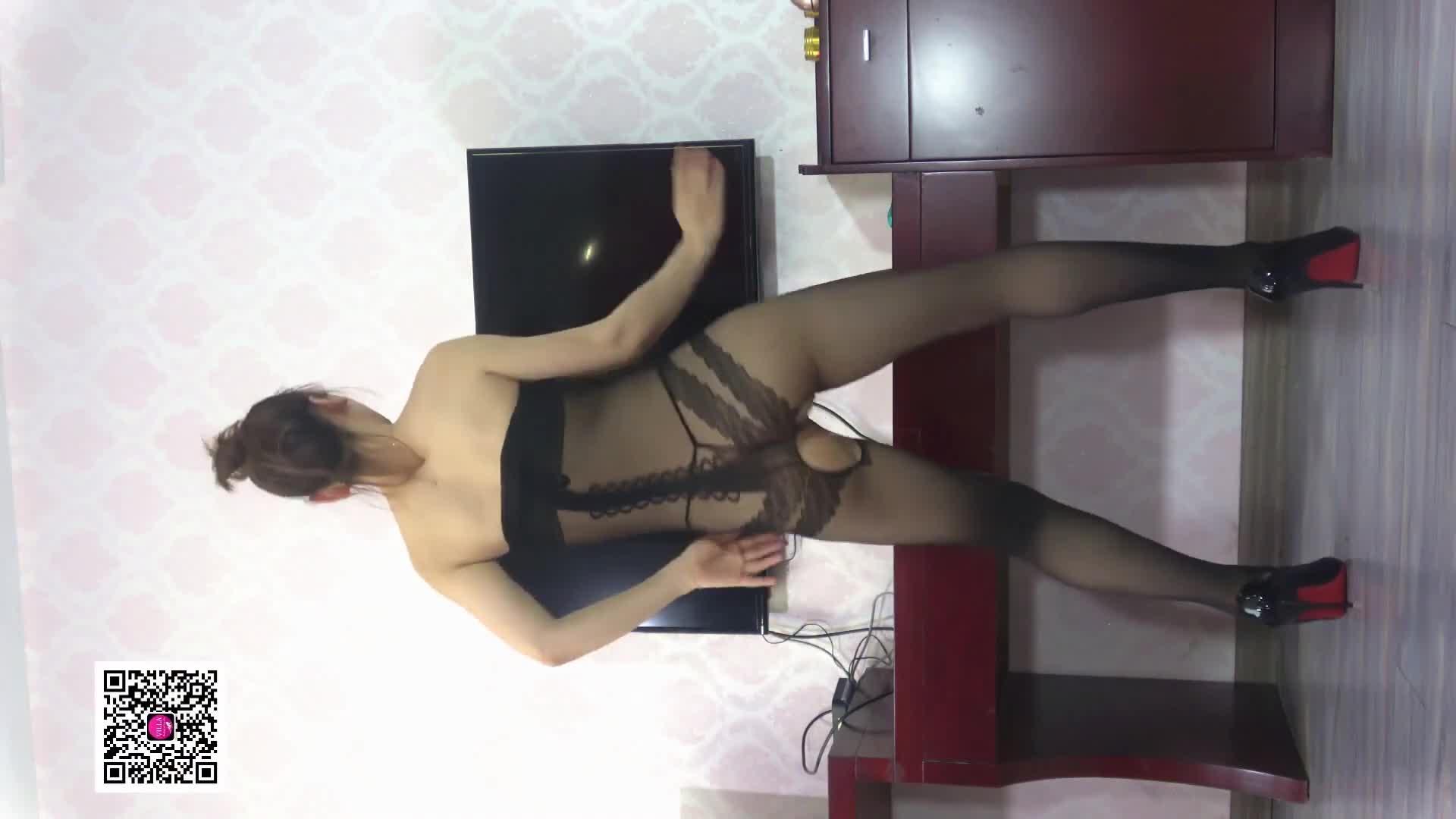 Sexy Dance 烈焰 黑色開襠連身絲襪 動感火辣熱舞賞析